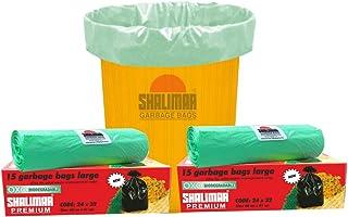 Shalimar Premium OXO - Biodegradable Garbage Bags (Large) Size 60 cm x 81 cm 4 Rolls (60 Bags) (Dustbin Bag/Trash Bag) (Gr...