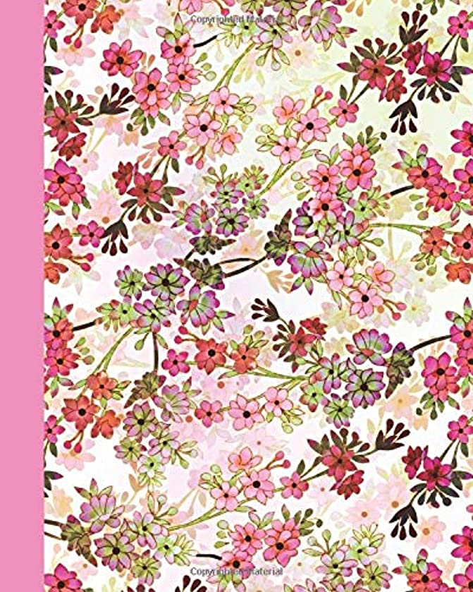 Sketchbook: Field of Flowers (Pink and Green) 8x10 - BLANK JOURNAL WITH NO LINES - Journal notebook with unlined pages for drawing and writing on blank paper (8x10 Flowers Sketchbook Series)