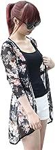 Franterd, Women Tops Casual Floral Cardigan Shawl Gauze Kimono Coat