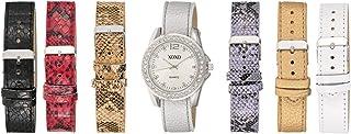 XOXO Women's Silver Dial Interchangeable Leather Band Watch Set - UTIGS004