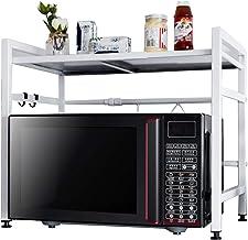 R&P Estante de Horno Microondas Estante de Cocina Rack de fax, Acero Carbono, Idóneo como Almacenamiento de Cocina, Hogar, Oficina,Blanco