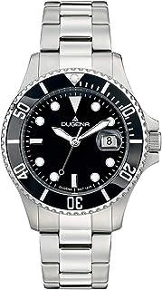 Dugena - Reloj de Pulsera automático para Hombre, Corona de Tornillo, Cristal Mineral endurecido, Diver