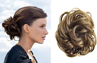 HI GIRL Q5 #9H19 Scrunchy Scrunchie Hair Bun Updo Hair Ribbon Ponytail Bun Hair Extensions Wavy Curly Messy Hair Piece Donut Hair Chignons Hairpiece Wig