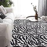 HJFGIRL Teppich Im Modernen Stil Zebra Pattern Design Teppich Kreativität Geometric Stripes Teppiche Große Bodenmatte Kinderzimmer Matte Für Wohnzimmer Schlafzimmer Küche,40x120cm(16x47inch)