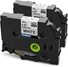 2 Pack Replace P Touch TZ Label Tape TZe-231 12mm 0.47 Laminated White Tapes Compatible with Brother P-Touch PT-D200 PT-D210 PT-1230PC PT-1280