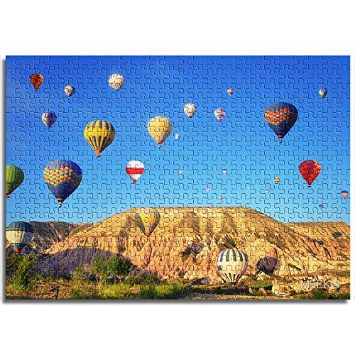 CHOUJJ Puzzles 1000 PieceHot Luftballon im Himmel Puzzles für Kinder DIY Puzzle Einzigartiges Geschenk Home Decor Style Karton Puzzles Lernspiele für Mädchen