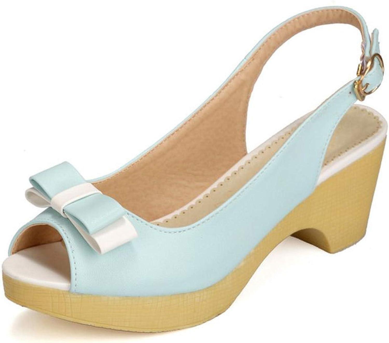 4 colors Women High Heel Sandals Platform Bow-Non Buckle Women Summer Dress shoes