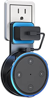 Amazon Echo Dot 壁掛け ホルダー Echo Dot ケース エコードット カバー 充電ケーブル付き 充電しながら使用可能 (ホワイト)