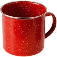 GSI Outdoors 4210 Stainless Steel Rim Enamelware Cup, 24 fl oz, Red
