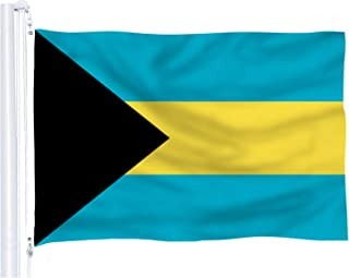 DFLIVE Bahamas Flag 3x5 ft Printed Polyester Fly Bahamian Caribbean Flag Banner with Brass Grommets