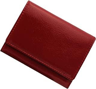 極小財布 エナメル×スムース(牛革)ベーシック型小銭入れ BECKER(ベッカー)日本製 ミニ財布/三つ折り財布