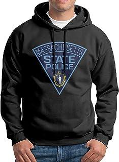 Mjzcjsjupo Massachusetts State Police Men`s Sweatshirt Pullover Hoodie