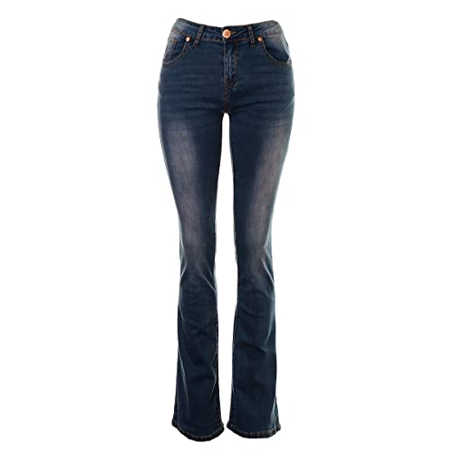 Women High Rise Bootcut Jeans Ladies Stretch Denim Pant Trouser Plus Size 8-16