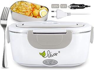 VOVOIR Chauffage électrique de Voiture Lunch Box 12V / 220v 2 in1 Accueil Chauffage électrique Chauffe-Plats Chauffe-Repas...