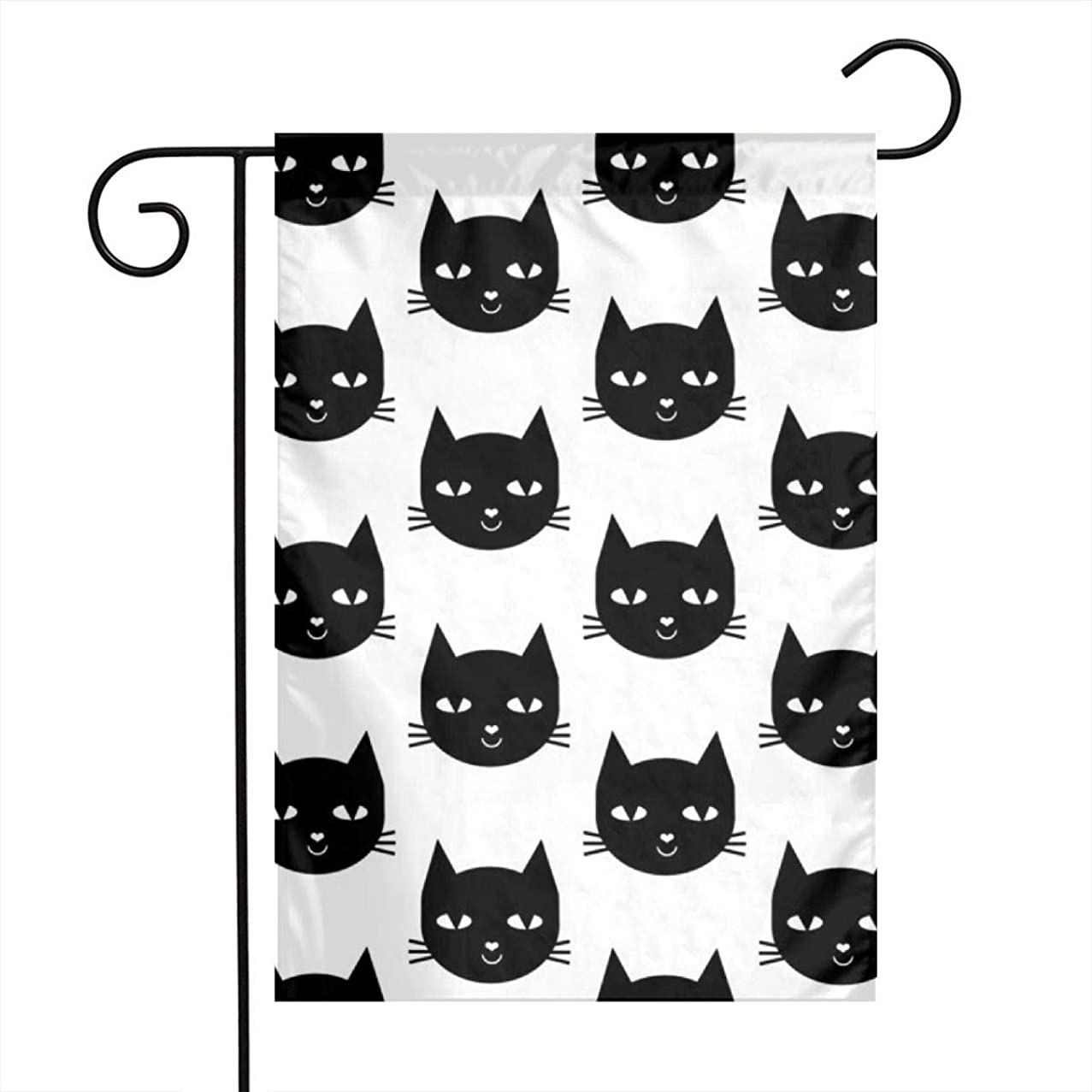 AndrewTop Home Garden Flag Cat Black Vertical Double Sided Spring Summer Yard Outdoor Decorative 12 x 18 Inch