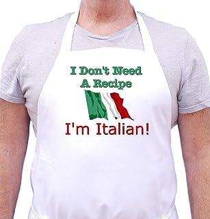 I Don't Need A Recipe - I'm Italian Apron Cute Chef Apron