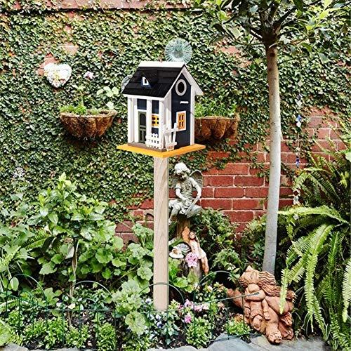 CLX Vogelhäuser Aus Holz, Yestter Futterhaus Für Vögel, Automatisches Futterhaus, Aufgehängt, Wasserdicht, Für Balkon, Außen,Birdhouse