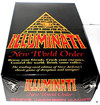 Illuminati 1995 New World Order Card Game Factory Sealed CCG Nib INWO  Limited Edition Booster Pack POP  540 Cards Total  by Steve Jackson  First Printing Original Version Extremely Rare 1994-1995
