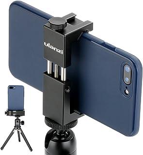 Ulanzi ST-02S Newest Aluminum Phone Tripod Mount w Cold Shoe Mount, Support Vertical and Horizontal, Universal Metal Adjus...