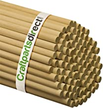 1/2 Inch x 48 Inch Wooden Dowel Rods - Unfinished Hardwood Dowels for Crafts & Woodworking - by Craftparts Direct - Bag of 25