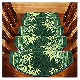 Alfombras de escalera Paquete de 15 almohadillas para alfombras para escaleras Peldaños para escaleras Alfombrillas adhesivas para escaleras, fundas antideslizantes para escaleras, bordes de polipropi