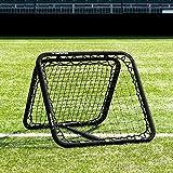 RapidFire Red de Rebote para Entrenamientos de Fútbol | Redes Reboteadoras Ajustables – 1 o 2 Caras [3 Tamaños] (RF80)