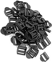 End Paracord - 50 Pcs Plastic Webbing Strap Ladder Slider Buckles Lock 25mm Black - Latch Buckle Lock Switch 25mm Kids Seat Locking Black Backpack Bell Stopper Belt Buckle Cord Alloy Lock Slid