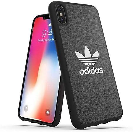 アディダスオリジナルス iPhone XS Max ケース TPU ブラック [adidas Originals Moulded Case BASIC FW18 for iPhone XS Max black/white]