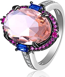 LAZLUVU Engagement Rings for Women Crystal Two Tone Plating AAA Cubic Zirconia Fashion Jewelry Mother 's Day Gift Size 5 6 7 8 9 10
