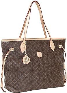 Leather Accents Shopper Shoulder Bag