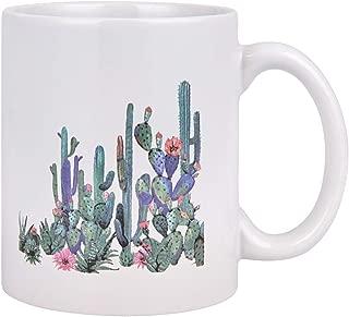 FunnyCoffee Mug, Tropical Cactus Coffee Tea Cup, 11 oz Ceramic Coffee Cup, Cactus Flowers Blossom Coffee Mug, Novelty Gift Funny Coffee Cup Funny Mugs for Men Women Friends
