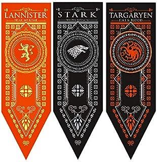 ForPeak Game of Thrones House Banner - 3 Pack - House, Stark, Targaryen, Lannister - 18