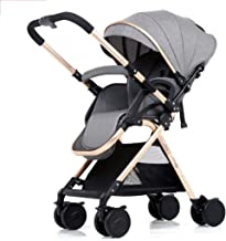 Comfortable Pet Bag Infant Strollers Pram Lightweight Travel System, Compact Fold Pushchairs Joggers, Carrycot and Rain Cover, Front Swivel Wheels and 4 Wheel with Brakes Pet Bicycles (Color : Green)