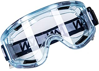 Holulo Clear Sport Anti-Fog Safety Goggle Splash & Impact Resistant Goggle Sand Eye Protector Wide-Vision Lab Safety Goggle