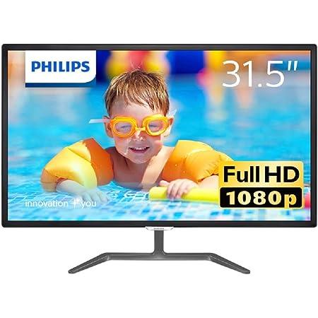 PHILIPSディスプレイ 31.5インチ (高画質のIPS Technologyパネル/HDMI/フルHD/フリッカーフリー/5年保証) 323E7QDAB/11