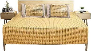 LITT Bamboo Cool Mat - Household Foldable Bamboo Block Color Mat - Two Cool Mattress (Size : 180X200cm)