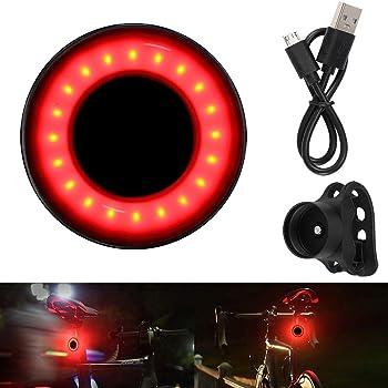 Rechargeable USB Frein Rouge EBUYFIRE Ultra Bright Smart Vélo Feu Arrière