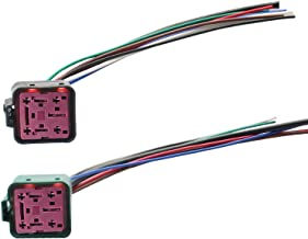 Powerstroke Diesel Glow Plug Control Relay Connector Wiring Fits for Ford E-350 E-450 F-250 F-350 F-450 F-550 F650 F750 6.0L 6.4L 7.3L Replace 4C3Z12B568AA YC3Z12B533AA DY876 YC3Z12B533AA