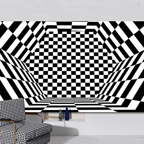 Europäische Moderne 3D Schwarz Und Weiß Gestreifte Fußmatten Lustige Dreidimensionale Drucke Couchtisch Sofa Teppich Wohnzimmer Schlafzimmer Hotel Party Teppich
