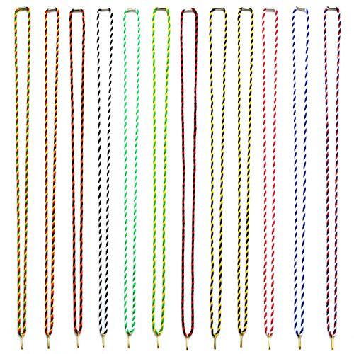 pokalspezialist blau/weiß 10 Stück Kordelband Halskordel Medaillenband als Kordel 42 cm lang