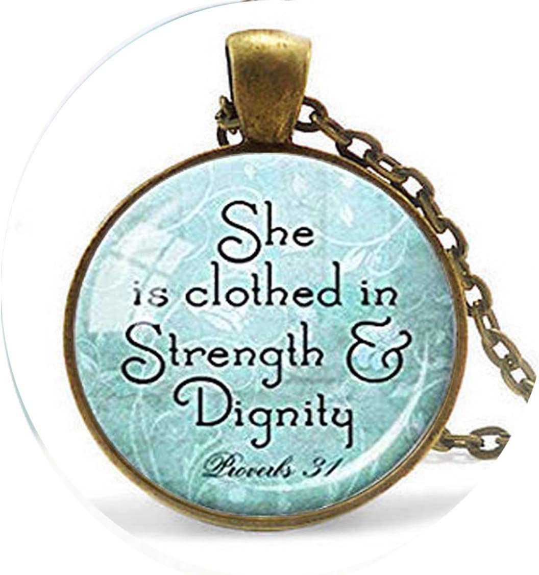 Long Silver Christian Scripture Beauty products Keychain C Proverbs Very popular - Pendant 31
