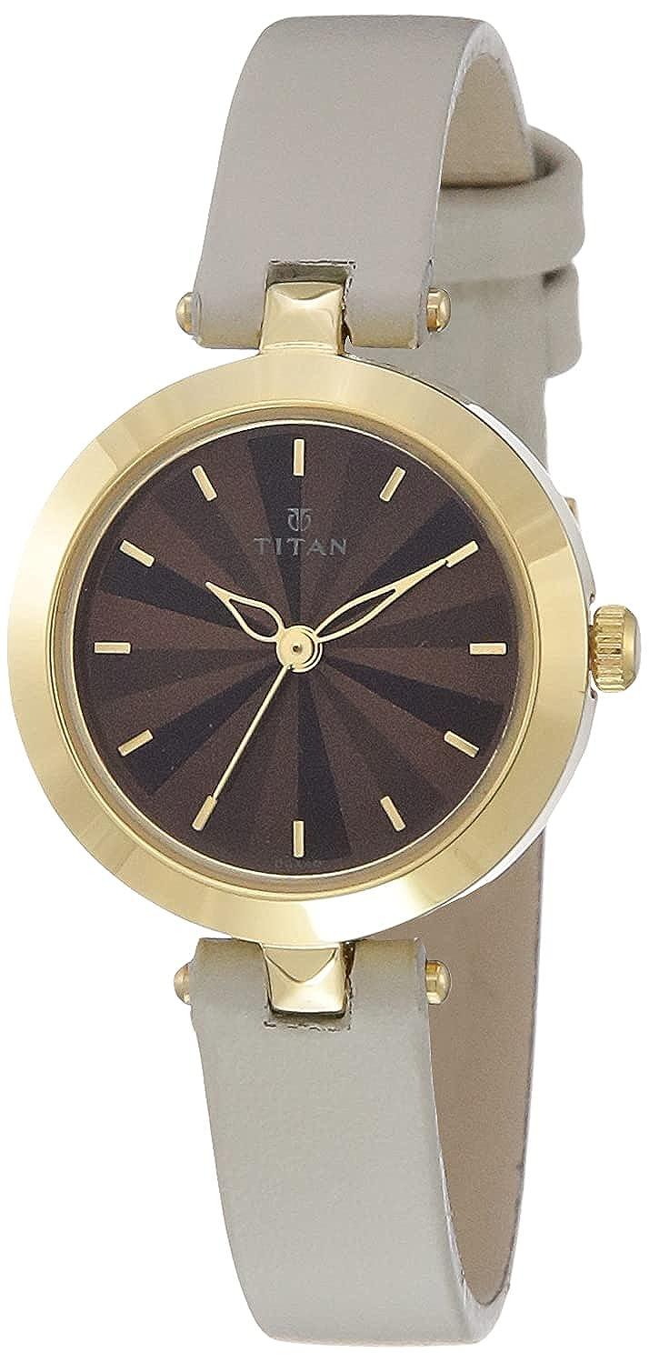 Titan Analog Brown Dial Women's Watch NM2574YL01/NN2574YL01 Wrist Watches