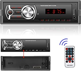 $32 » Single Din Car Stereo Bluetooth FM MP3 Player DC 12V Audio Receiver Support AUX-in / USB + Remote Control