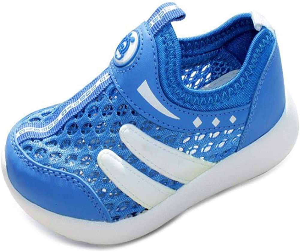 Lovely Children's Shoes Baby Shoes net Shoes Children's Spring and Summer Canvas net Shoes net face Soft Bottom Sandals Girl boy Blue