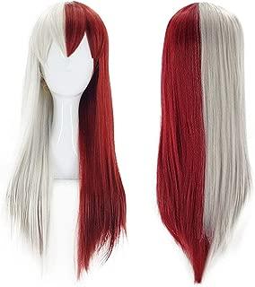 Bopocoko Anime Cosplay Wigs Silver Red Wigs Long Straight Halloween Costume Wigs BU205