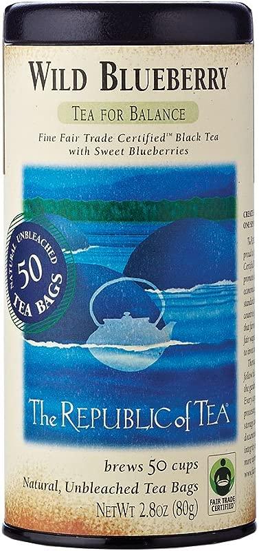 The Republic Of Tea Wild Blueberry Black Tea 50 Count