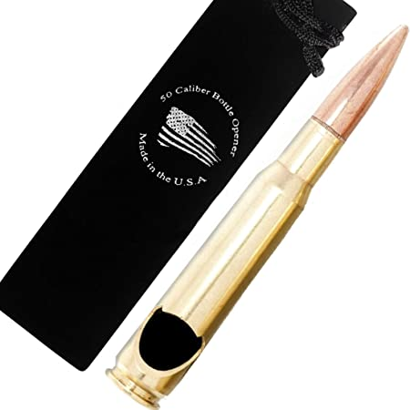 50 Caliber BMG Real Bullet Bottle Opener - Made in the USA