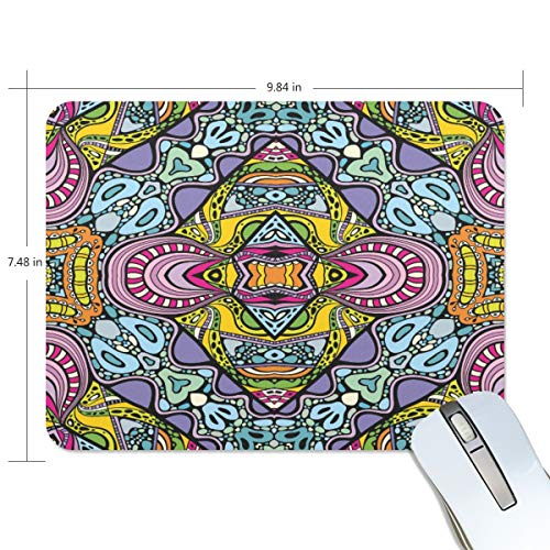 """Special Mandala Mouse Pad Gaming Mousepad Non-Slip Rubber Cool Laptop Computer Mouse Pads for Women Men Kids Desk Office Student, Small 10""""x7.5"""" Mouse Mat"""