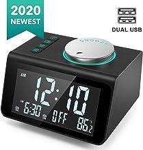 ANJANK Small Digital Alarm Clock Radio – FM Radio,Dual USB Charging Ports,Dual..