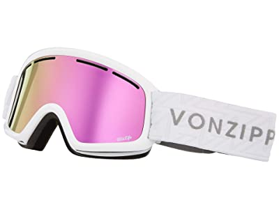 VonZipper Trike Goggle (White Gloss/Pink Chrome Lens) Goggles